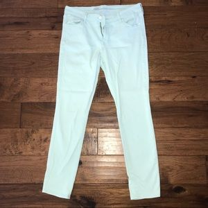 Old Navy Mint Green Skinny Jeans
